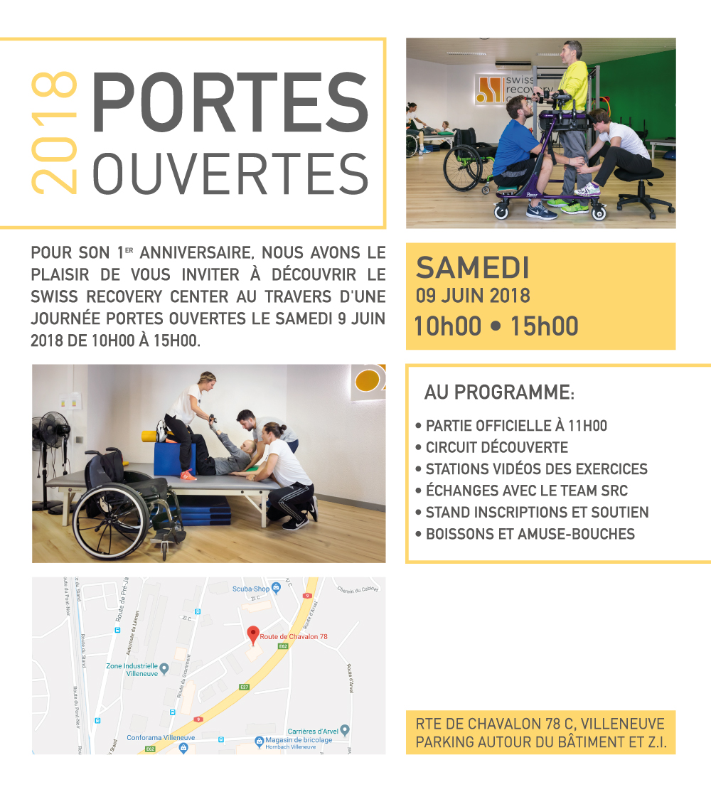 Swiss Recovery Center - Portes ouvertes le 9 juin 2018